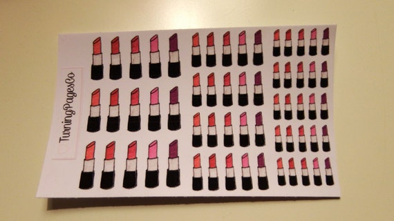 Lip Stick Planner Stickers