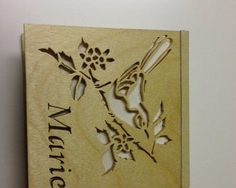 Personalized notepad with detailed scroll saw picture