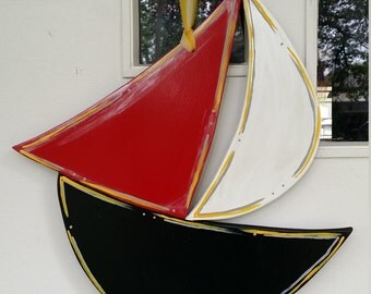 Sail Boat door hang in any color