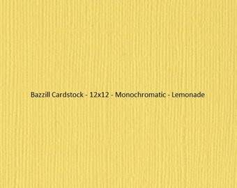 Bazzill Cardstock - 12x12 - Monochromatic - Yellow's