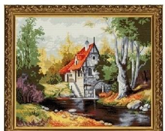 Cross Stitch Kit By Nova Sloboda - Austrian Cottage