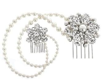 Elegant Bridal Pearl hair Jewellery, bridal hair accessories