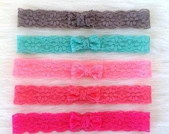 1 Inch Lace Bow Headband