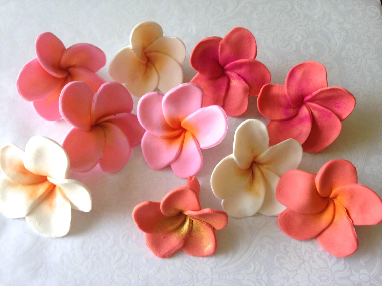 Hawaiian Flower Birthday Cakes