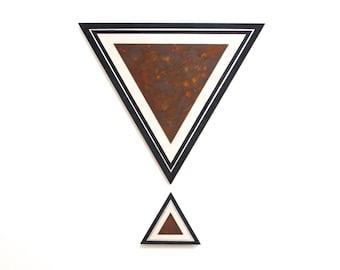 Triangle Art 2 piece seT