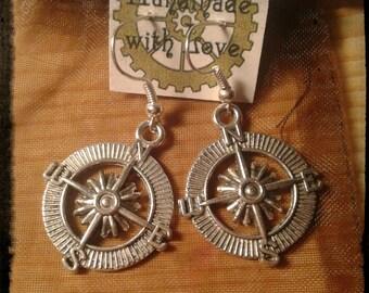 Compass earrings