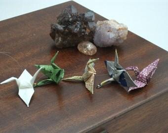 Origami crane mobile handing / 5 Multi coloured cranes / No. 3893