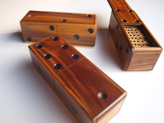 handmade dominoes dominoes set wooden vintage box domino by guayoyostore 3365