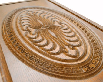 Handmade Carved Wooden Backgammon Set Board Game NEW 22.83 in 100% Wood oak