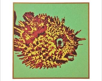PUFFER FISH Serigraph