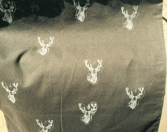Black book bag with stag print