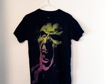 Gradient zombie face t-shirt (M)