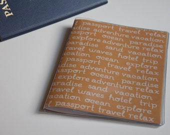 Passport Cover Quote, Travel Words. Passport  Sleeve, Case, Holder