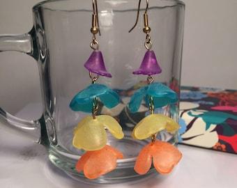 Carribean Flora- Tropical Earrings