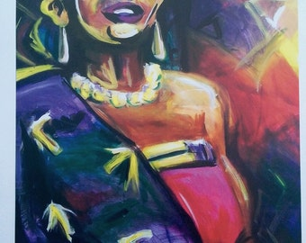 "11""x14""- Art Print of Painting ""Makeba"""