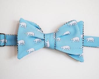 Polar Bears Bow Tie