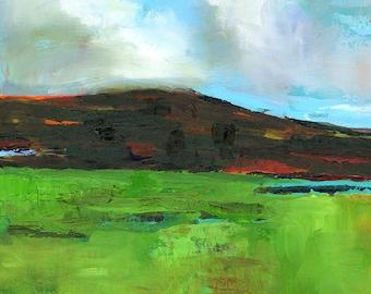 "Misty Pasture Print 12x12"""