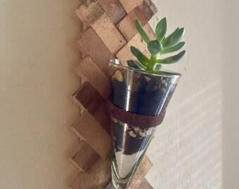 Wooden Chevron Terrarium