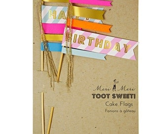 Meri Meri Birthday Cake Flags