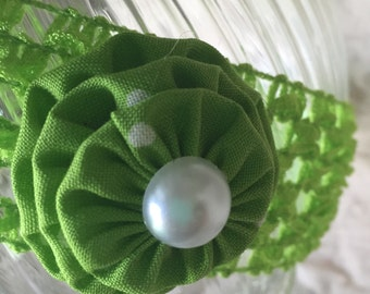 Green Girl's Headband