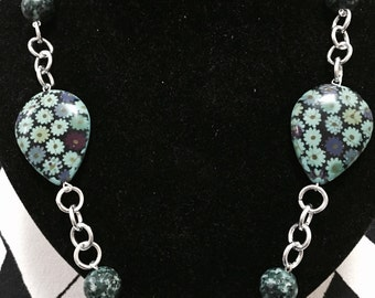 Stone necklace 90 cm approx