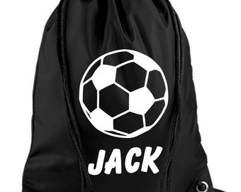 Personalised Childs Football PE/Swim Duffle/Drawstring Bag - *Choice of colours*