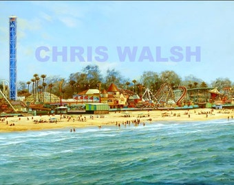 "Fine Art prints ""Santa Cruz"" by artist Chris Walsh"