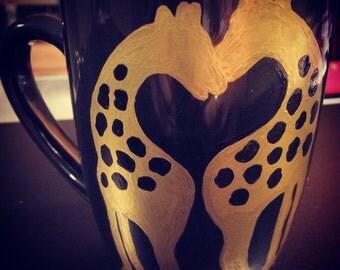 Giraffe's in Love Mug