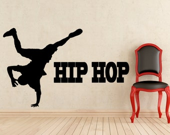Hip Hop Stickers Rap Music Wall Vinyl Decals Home Interior Murals Art Decoration (116s)