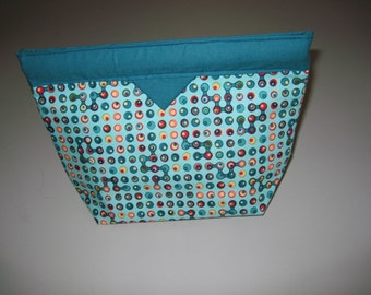 Teal/Turguoise Snap Closure Bag