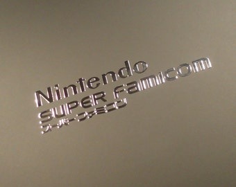 Nintendo Super Famicom Label / Aufkleber / Sticker / Badge / Logo 60 x 14mm[257]