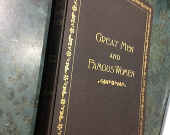 Great Men and Famous Women Vol VIIi with Wood Engravings Wood Typogravures and Photogravures By Selmar Hess 1894
