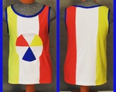 "MADE TO ORDER Katy Perry ""Beach Ball"" Superbowl Costume Inspired Tank Top for Men"