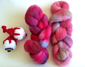 Hand Dyed Cheviot for Spinning or Felting 2.4 Ounces, 68 Grams - Monster Spawn Roving