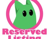 RESERVED LISTING for Alison