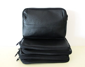 Simple Black Leather Belt Bag