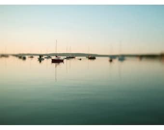 Landscape Photograph - Michigan Photography - Northern Lights 1 - Sailboat Print - Boat Art - Nature Photography - Oversize Art - Nautical