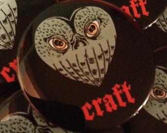 Lovecraft Magnet or Button - Cuthulu inspired, Bookish Magnet, Reader Gift, Literary Art, Nerd Gift, Bookworm, Monster Magnet, Literary Gift