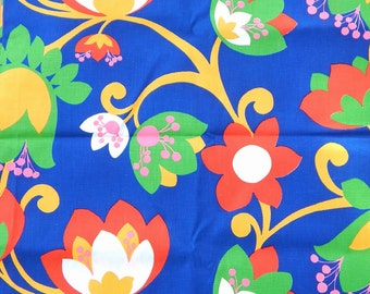 Vintage Mod Floral Decorator Fabric Styleset Inc. Vibrant Colors! 1.5 Yards