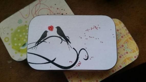 Love Birds . . a large notion tin