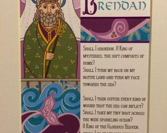 Saint Brendan Print