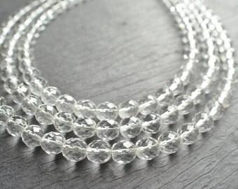 The Anna Marie- Clear Czech Glass Chunky Necklace