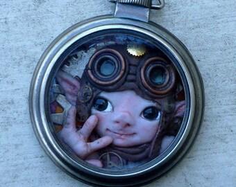Smig - Steampunk Pocket Watch Myxie Sculpture