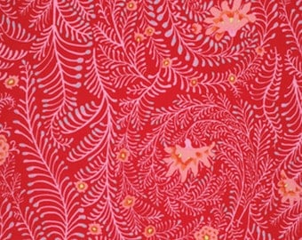 Ferns in Red by Kaffe Fassett fabric PWGP147 Spring 2015 Westminster Fabric 1/2 yard Cotton, Quilt Craft and Apparrell fabric