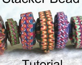 Stacker Bead Polymer Clay Bead Tutorial PDF Digital Download