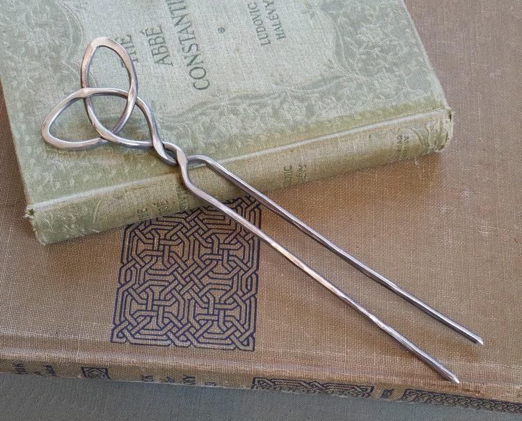 Celtic Trinity Knot Knitting Pattern : Celtic Trinity Knot Aluminum Hair Fork Shawl by nicholasandfelice