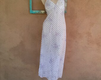 Vintage 1970s Nightgown Sheer Nightie Lavender Small Up to B35 2013539