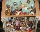 Hoarder Dollhouse Custom Art Display