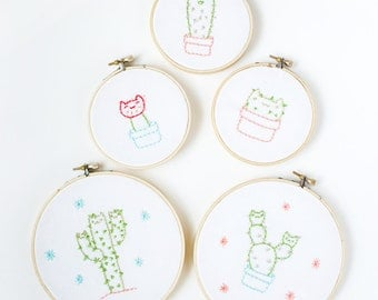 Cactus Cats • Embroidery Patterns