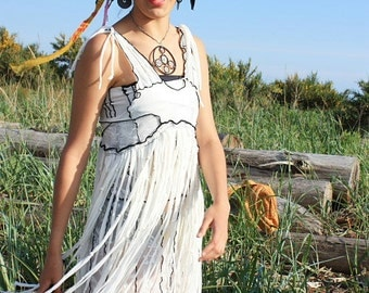 New! Pierrot Fringe Summer Dress M